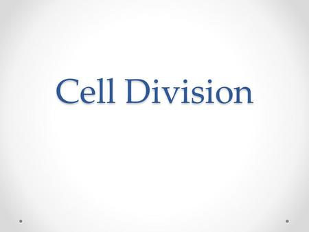 Cell Division. Why do cells divide? For an organism to grow → add more cells To replace lost or damaged cells The result is two cells genetically identical.