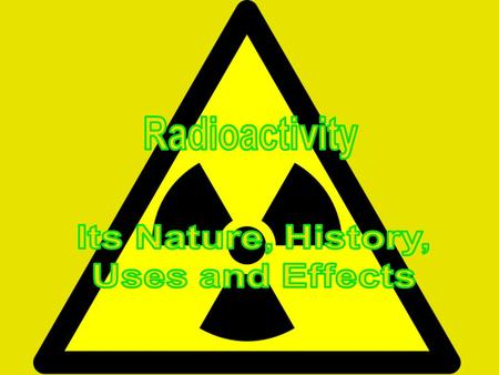 What is radioactivity? Radioactivity describes an atom which undergoes radioactive decay. Radioactive decay is when an unstable atom of an element emits.