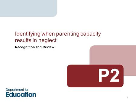 1 Recognition and Review P2 Identifying when parenting capacity results in neglect.