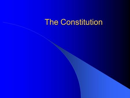 The Constitution. Constitution Definition – A nation's basic law. It creates political institutions, assigns or divides powers in government, and often.