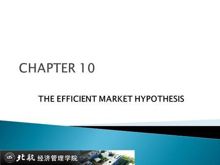 Custom An Efficient Market Hypothesis Essay