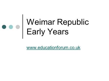 a history of problems in weimar republic There were various factors that contributed to the failure of the weimar republic of germany and the problems were concurrent with the in modern world history.