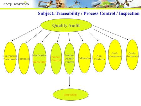 Subjects: Traceability / Pocess Control / Inspection Quality Audit Subject: Traceability / Process Control / Inspection Contractual Documents Purchases.