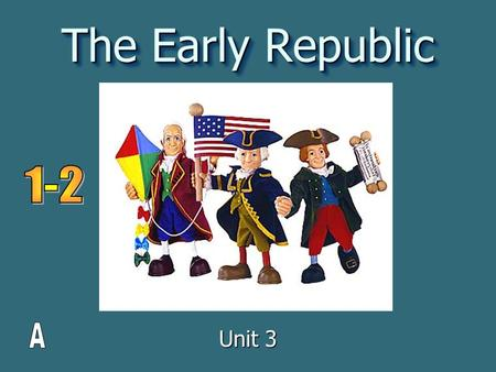 The Early Republic Unit 3. Quick review of leadership during the American Revolutionary War Some people were afraid Washington might become King Some.