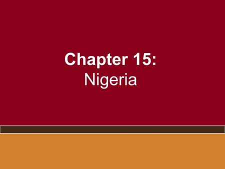 Chapter 15: Nigeria. A New Democracy? – the 2006 and 2007 elections.