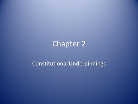 Chapter 2 Constitutional Underpinnings. The Agenda in Philadelphia Revise the Articles of Confederation Gentlemen in Philadelphia – 55 men from 12 of.