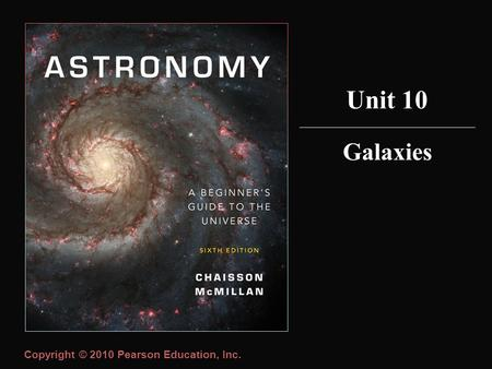 Copyright © 2010 Pearson Education, Inc. Galaxies Unit 10.