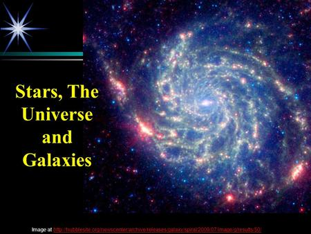 Stars, The Universe and Galaxies Image at