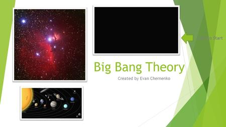 Big Bang Theory Created by Evan Chernenko Click to Start.