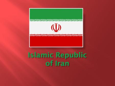 Islamic Republic of Iran. 636,372 square miles Second largest country in The Middle East and 18 th In the world One of the world's most mountainous countries.
