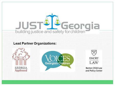 Lead Partner Organizations:. …AND HOW FOUNDATION GRANTS OF ALL SIZES CAN MAKE A DIFFERENCE. PUBLIC POLICY: THE ROLE of NON PROFITS.