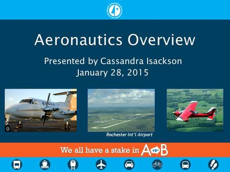 Presented by Cassandra Isackson January 28, 2015 Rochester Int'l Airport.