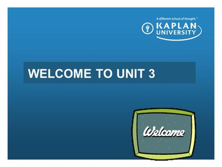 WELCOME TO UNIT 3. WELCOME TO UNIT 2 Review Unit 2 Serving a Diverse Population of Customers Objectives Describe diversity in the workplace relative.