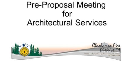 Pre-Proposal Meeting for Architectural Services