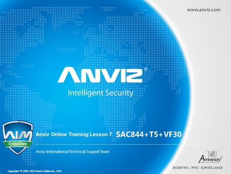 SAC844+T5+VF30 Anviz Online Training Lesson 7