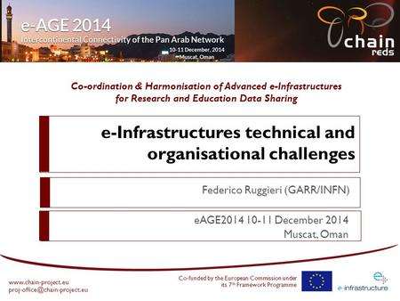 Co-ordination & Harmonisation of Advanced e-Infrastructures for Research and Education Data Sharing  Co-funded.