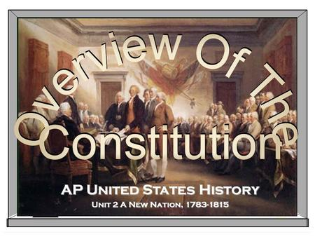 AP United States History Unit 2 A New Nation, 1783-1815.
