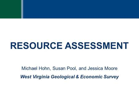 West Virginia Geological & Economic Survey