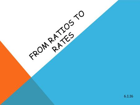 FROM RATIOS TO RATES 6.1.16. Solve for x ONE-EIGHTY 1) 60 + a = 180 a = _____ 2) 45 + a = 180 a = _____ 3) a + 90 = 180 a = _____ 4) 125 + a = 180 a.