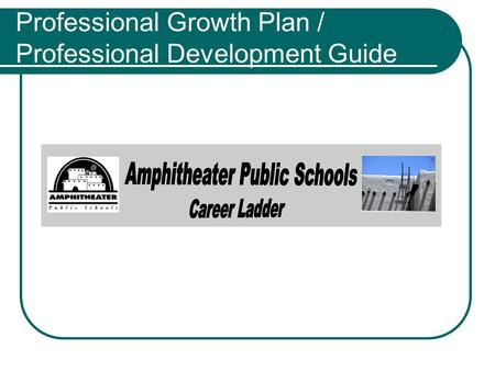 Professional Growth Plan / Professional Development Guide.