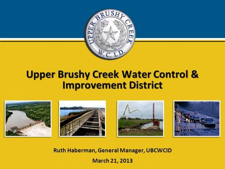 Upper Brushy Creek Water Control & Improvement District