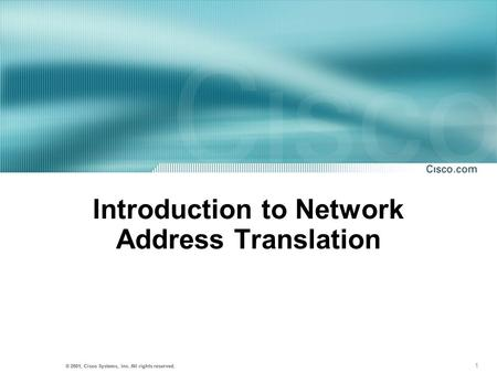 Introduction to Network Address Translation