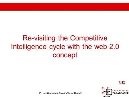 Re-visiting the Competitive Intelligence cycle with the web 2
