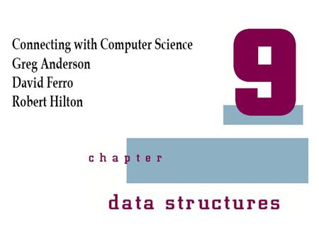Connecting with Computer Science 2 Objectives Learn what a data structure is and how it is used Learn about single and multidimensional arrays and how.