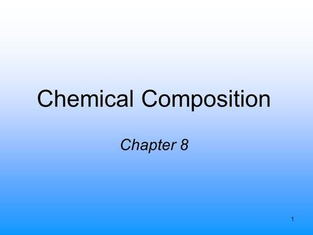 1 Chemical Composition Chapter 8. 2 Atomic Masses Balanced equation tells us the relative numbers of molecules of reactants and products C + O 2  CO.