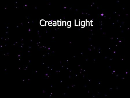 Creating Light. Light as a Wave Light (or electromagnetic radiation), can be thought of as either a particle or a wave. As a wave, light has a wavelength,