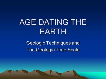 age of earth dating methods Dating the earth methods for the identification of strata came from religiously orthodox individuals such as niels stensen there is no assumption of evolution.