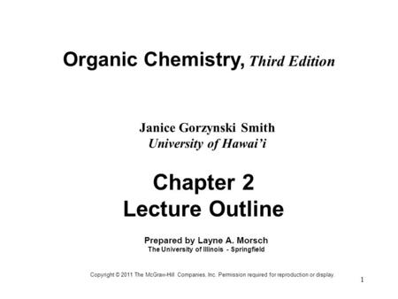 Chapter 2 Lecture Outline