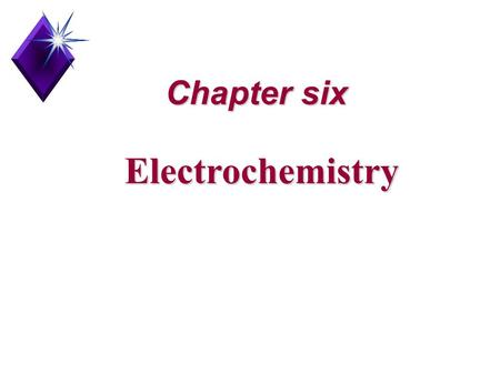 Chapter six Electrochemistry. Oxidation NumbersOxidation Numbers Oxidation-reduction reactionOxidation-reduction reaction Oxidizing agent and reducing.