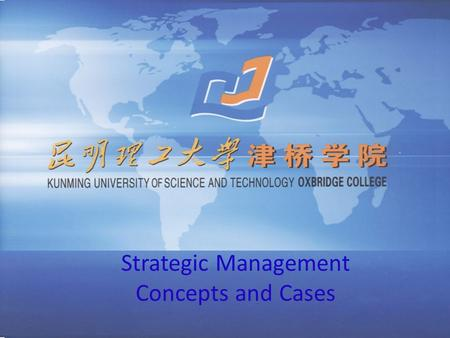 Strategic Management Concepts and Cases. Exploring the External Environment: Competition and Opportunities.