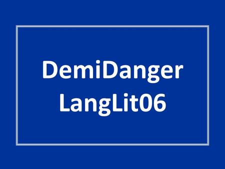 DemiDanger LangLit06. They've Got Character Back to Real Life That Pesky Revolution Role PlayThe House of Mirrors Heroes 100 200 300 400 500.