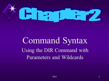 Ch 21 Command Syntax Using the DIR Command with Parameters and Wildcards.