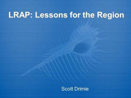 "LRAP: Lessons for the Region Scott Drimie. Introduction Deriving lessons from LRAP for the region: An example of ""good practice"" Engages vulnerability."