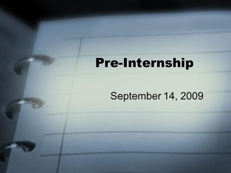 Pre-Internship September 14, 2009. Today's Outline… Guidelines presentation – Kent, Blake, & Tyson (1:00-1:30) Intro to Multigenerational Therapy (1:30-2:15)