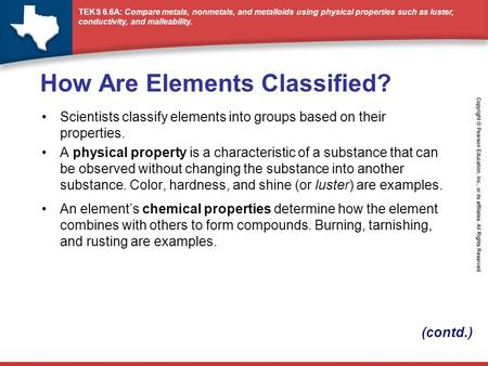 How Are Elements Classified?