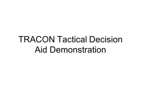 TRACON Tactical Decision Aid Demonstration. Editing Icing Potential Grid.