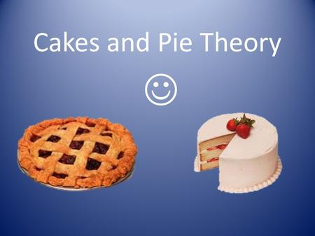 Cakes and Pie Theory. What are the six ingredients that are used to make cakes? eggs, sugar, flour, fat, flavourings, and a leavening agent.