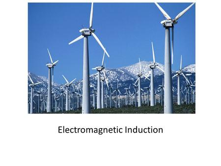 Electromagnetic Induction. J.J. Thomson was the first to measure the charge-to-mass ration of electron.
