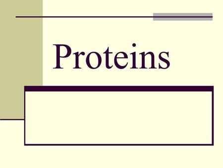Proteins. Protein is made of amino acids Amino acids are the building blocks of protein- they are organic acids Contain nitrogen Each amino acid has side.