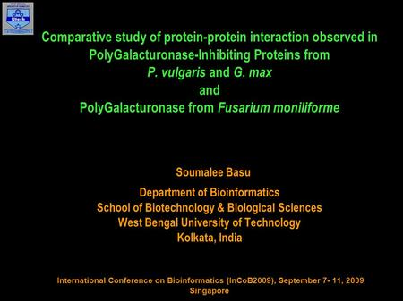 Comparative study of protein-protein interaction observed in PolyGalacturonase-Inhibiting Proteins from P. vulgaris and G. max and PolyGalacturonase from.