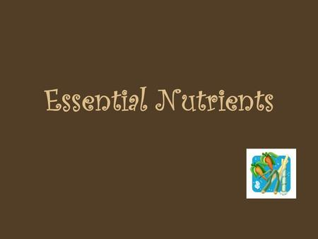 Essential Nutrients Nutrition & Nutrients Nutrition is the Study of Food & How the Body Uses it Nutrients are substances found in food that are necessary.