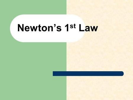 Newton's 1 st Law. Newton's First Law of Motion Objects in motion will to stay in motion, objects at rest will stay at rest unless they are acted upon.