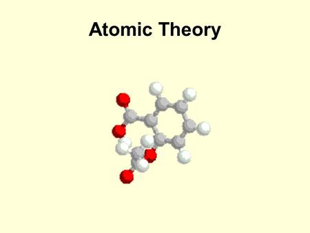 Atomic Theory. Let's Take a Trip Through Time! Our Contestant Models Are…