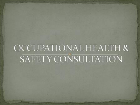 Consultation is the process of sharing of relevant information about occupational health, safety and welfare with staff. It gives staff the opportunity.