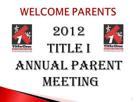 2012 Title I Annual Parent Meeting 1. Let's learn about Title I Title I is the largest federal assistance program for our nation's schools. 2.