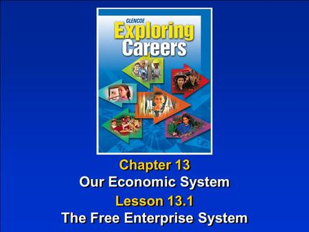 Chapter 13 Our Economic System Chapter 13 Our Economic System Lesson 13.1 The Free Enterprise System Lesson 13.1 The Free Enterprise System.